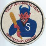 7551st Personnel Processing Squadron English made Patch