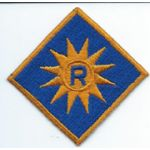 California State Reserve Gold Border Patch