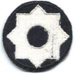 ASMIC Rare WWII Black Background 8th Service Command Patch