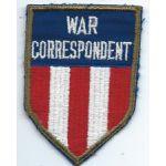 ASMIC WWII China Burma India War Correspondent Patch
