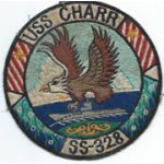 50's-60's USS Charr SS-328 Japanese Made Submarine Patch