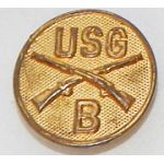 B Company US Guard Enlisted Collar Disk