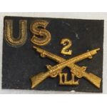 2nd Illinois Infantry Collar Inisgnia