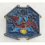 ASMIC WWII - Occupation Period Theatre Made 581st AAA Bn Di