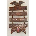 Company G 17th Infantry Ladder Type Badge