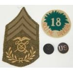 18th Infantry Division Quartermaster Insignia Set