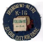 K-16 Transient Alert Seoul City Air Base Squadron Patch