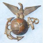 Spanish-American War Enlisted Marine Corps Helmet Emblem