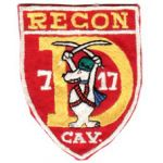 D Troop 7th Squadron 17th Cavalry RECON Snoopy Design Pocket Patch Vietnam
