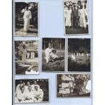 WWII Group Of Seven Army Convalescent Soldiers Photos