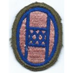 WWII 30th Division Pink Background OD Border Patch