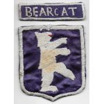 ASMIC WWII Occupation Period 136th Infantry BEARCAT Patch Set