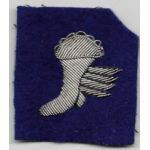 WWII Army Air Forces / Royal Air Force Bullion Winged Boot Patch