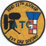 Vietnam 11th Aviation Group Headquarters & Headquarters Company 1st Cavalry Division Pocket Patch