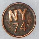 WWI 74th New York Enlisted Collar Disc