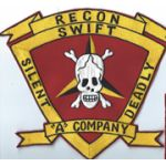Vietnam Era US Marine Corps A Company 3rd Force Recon Back Patch.
