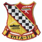 Vietnam Era US Marine Corps VMFA-312 CHECKERBOARDS  Squadron Patch