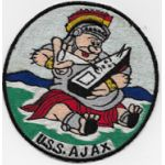 1950's Disney Design US Navy USS Ajax Ships Patch