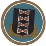WWII 484th Bomb Group Italian Made Incised Leather Squadron Patch