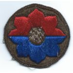 WWII - Occupation Period 9th Division German Made Bullion Patch