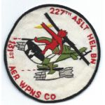 Vietnam 131st Aerial Weapons Company 227th Assault Helicopter Battalion Pocket Patch
