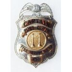 1960's Fort Irwin California Fire Department Captains Badge