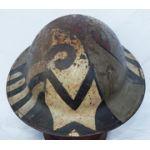 WWI Army Camo Painted Helmet