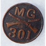 WWI 301st Machine Gun  Enlisted Collar Disc