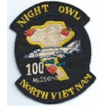 Vietnam US Air Force 497th Tactical Fighter Squadron Night Owls 100 Missions Squadron Patch