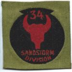 WWI 34th Sandstorm Division Liberty Loan Patch