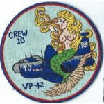 1950's - 1960's Patrol Squadron 42 Crew 10 Japanese Made Squadron Patch