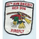 Vietnam 11th Aviation Battalion RED-DOG FIREFLY Pocket Patch