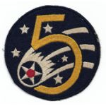 WWII Australian Made 5th Air Force Squadron Patch