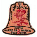 1940's - 1950's USMC Marine Air Warning Squadron 8 Squadron Patch