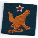 WWII AAF 2nd Air Force Patch On Felt
