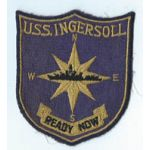 1960's US Navy USS Ingersoll Ships Patch