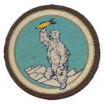 WWII Army Air Forces Cold Weather Test Detachment Alaska Leather Squadron Patch