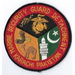 US Marine Corps Marine Security Guard Detachment Karachi Pakistan Patch