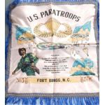 WWII - 1940's 82nd Airborne US Paratroopers Souvenir Pillowcase