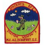 US Marine Corps Patriots Of Station Weapons MCAS Beaufort SC Japanese Made Patch