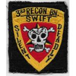 Vietnam US Marine Corps 3rd Recon Battalion Japanese Made Patch