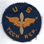 WWII English Made US Air Forces Tech Rep Patch