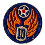 WWII AAF 10th Air Force Patch