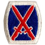 WWII 10th Division Patch