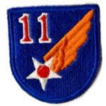 WWII AAF 11th Air Force Patch