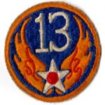WWII AAF 13th Air Force Patch