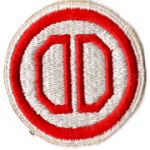 WWII 31st Division White Border Patch
