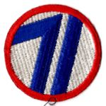 WWII 71st Division Patch