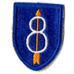 WWII 8th Division Patch