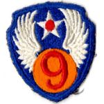 WWII AAF 9th Air Force Patch